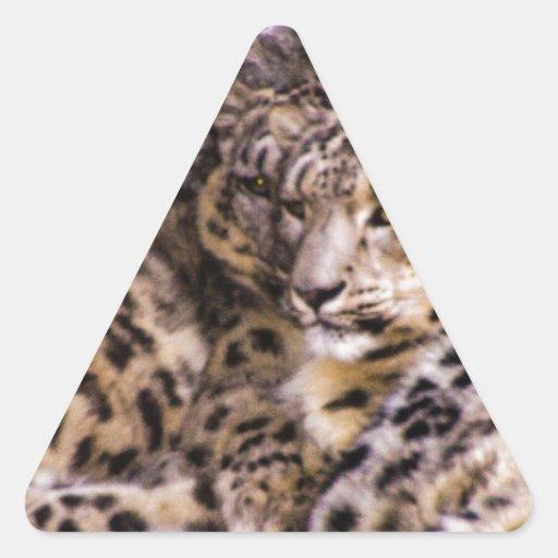 Onzas devotas pegatina triangular