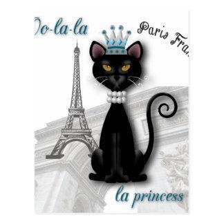 Oo-la-la French Kitty Princess Postcard