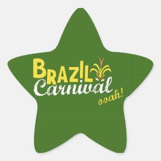 ¡Ooah del carnaval del Brasil! Pegatina En Forma De Estrella