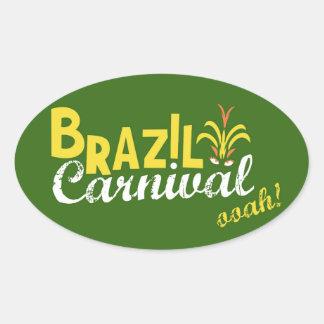 ¡Ooah del carnaval del Brasil! Pegatina Ovalada