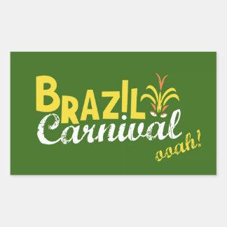 ¡Ooah del carnaval del Brasil! Pegatina Rectangular