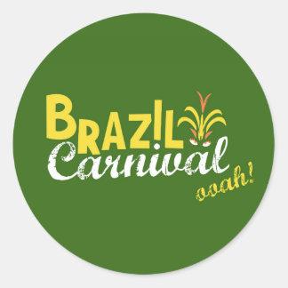 ¡Ooah del carnaval del Brasil! Pegatina Redonda