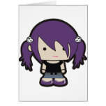 OOAK Punk Goth Girl Illustration Greeting Card