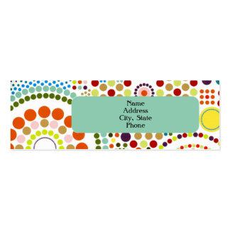 Oodles de círculos tarjetas de visita mini