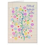 ¡Oodles de los Doodles para Yoodle!  Cuaderno Dood Felicitación