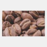 Oodles de los granos de café etiqueta