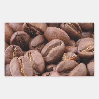 Oodles de los granos de café pegatina rectangular