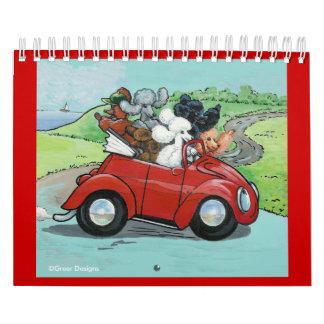Oodles del calendario del arte del perro de