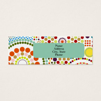 Oodles of Circles Mini Business Card