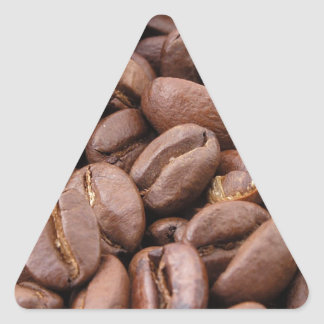 Oodles of Coffee Beans Triangle Sticker