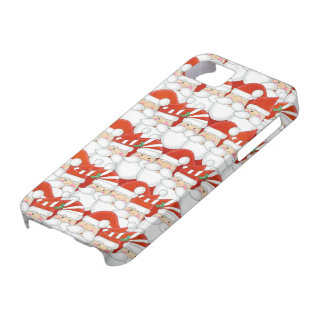 Oodles of Cute Santas Christmas Iphone Case iPhone 5 Cover
