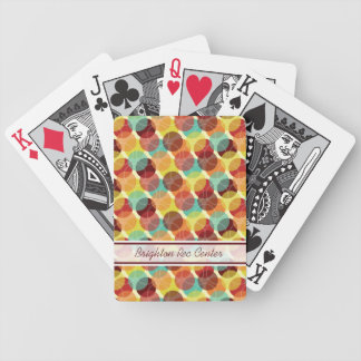 Oodles of Dots Personalized Playing Cards - Warm