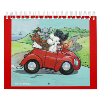 Oodles of Poodles Dog Art Calender Calendar