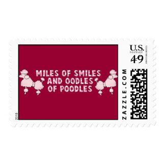 Oodles Of Poodles Postage Stamp