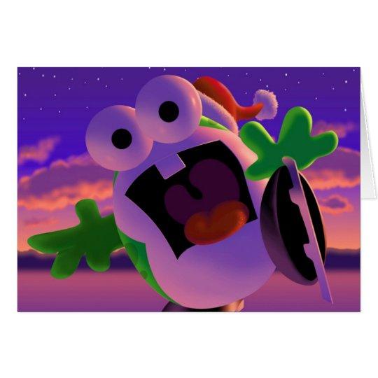 """Oog and Goomy™ """"Ice Skating"""" Christmas Card"""