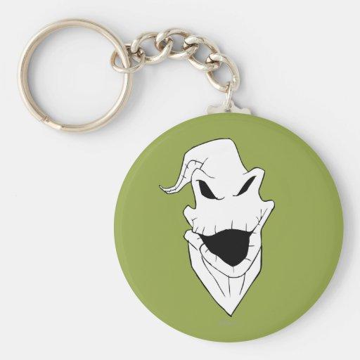 Oogie Boogie Head Basic Round Button Keychain