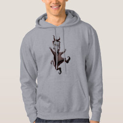 Men's Basic Hooded Sweatshirt with Disney Christmas Ornaments design
