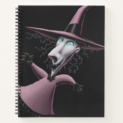8.5' x 11' Spiral Notebook with Disney Christmas Ornaments design