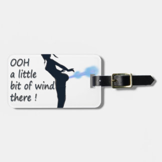 ooh a little bit of wind there bag tag