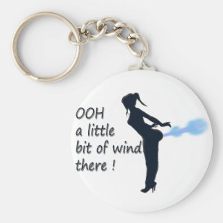 ooh a little bit of wind there basic round button keychain