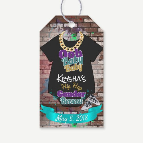 Ooh Baby Baby-Hip Hop Gender Reveal Favor Tags