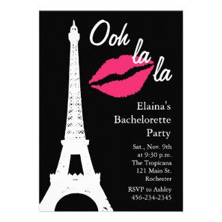 Ooh la la Bachelorette Party Custom Invitation