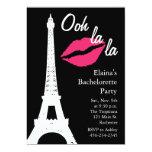 """Ooh la la! Bachelorette Party 5"""" X 7"""" Invitation Card"""