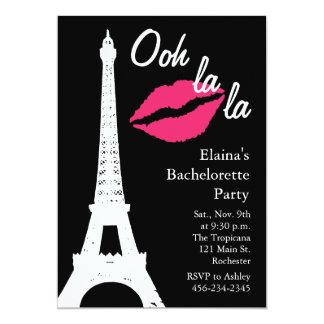 Ooh la la! Bachelorette Party 5x7 Paper Invitation Card