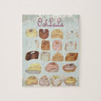 ooh la la bakery  pastry chocolate french cafe jigsaw puzzle