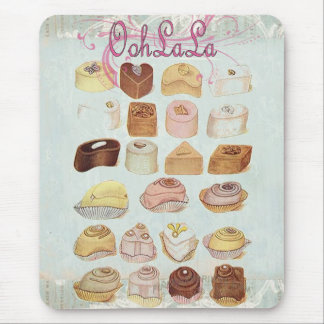 ooh la la bakery  pastry chocolate french cafe mouse pad