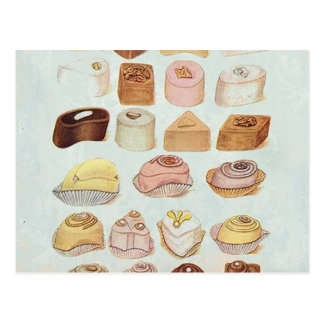 ooh la la bakery  pastry chocolate french cafe postcard