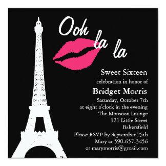 Ooh la la! Birthday Invitation