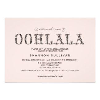 Ooh La La Bridal Shower invitation
