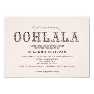 """Ooh, La La Bridal Shower invitation 5"""" X 7"""" Invitation Card"""