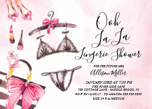 Lingerie bridal shower invitations zazzle ooh la la lingerie bridal shower invitation filmwisefo