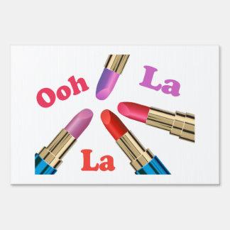 Ooh La La Luscious Lipstick Lawn Signs