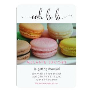 Ooh La La Macaron Bridal Shower 5x7 Paper Invitation Card