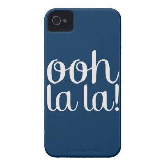 Ooh La La Navy iPhone 4 Case-Mate Case