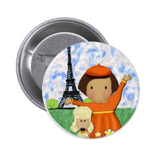 Ooh La La Paris 2 Inch Round Button