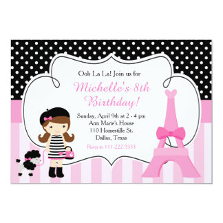 Ooh la la Paris Eiffel Tower Pink and Black Card