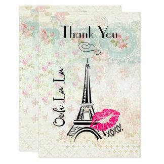 Ooh La La Paris Eiffel Tower Thank You Card