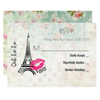Ooh La La Paris Eiffel Tower Vintage RSVP Card