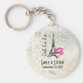 Ooh La La Paris Eiffel Tower Vintage Wedding Keychain