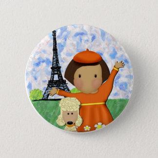 Ooh La La Paris Pinback Button