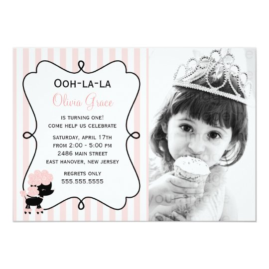 Ooh la la! Paris Pink Poodle Card