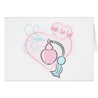 Ooh La La! Perfume Greeting Card