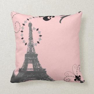 ooh la la pink vintage paris eiffel tower Pillow