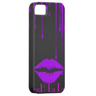 ooH La La Purple Drip Lips iPhone 5 Case-Mate