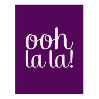 Ooh La La Purple Postcard