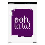 Ooh La La Purple Skins For iPad 2